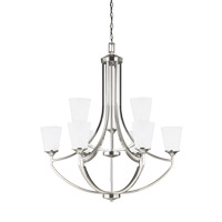 Hanford 9 Light 33 inch Brushed Nickel Chandelier Ceiling Light