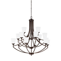 Hanford 15 Light 43 inch Burnt Sienna Chandelier Ceiling Light