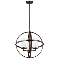 Sea Gull 3124603-778 Alturas 3 Light 19 inch Brushed Oil Rubbed Bronze Chandelier Ceiling Light
