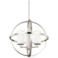 Alturas 3 Light 19 inch Brushed Nickel Chandelier Ceiling Light in Standard