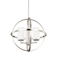 Alturas 3 Light 19 inch Brushed Nickel Chandelier Ceiling Light
