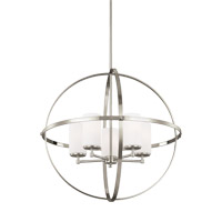Alturas 5 Light 27 inch Brushed Nickel Chandelier Ceiling Light