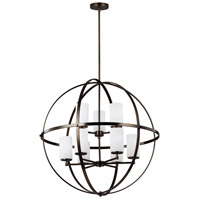 Sea Gull 3124609-778 Alturas 9 Light 33 inch Brushed Oil Rubbed Bronze Chandelier Ceiling Light