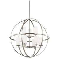 Alturas 9 Light 33 inch Brushed Nickel Chandelier Ceiling Light in Standard