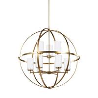 Sea Gull 3124609EN3-848 Alturas 9 Light 33 inch Satin Bronze Chandelier Ceiling Light