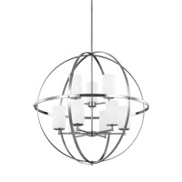 Sea Gull 3124609EN3-962 Alturas 9 Light 33 inch Brushed Nickel Chandelier Ceiling Light