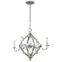 Sea Gull 3124904-872 Socorro 4 Light 22 inch Washed Pine Chandelier Ceiling Light
