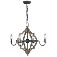 Socorro 4 Light 22 inch Stardust Chandelier Ceiling Light