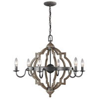 Socorro 6 Light 26 inch Stardust Chandelier Ceiling Light