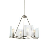 Storey 4 Light 21 inch Brushed Nickel Chandelier Ceiling Light