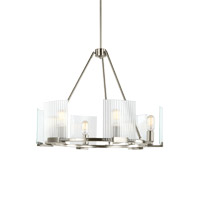 Storey 6 Light 26 inch Brushed Nickel Chandelier Ceiling Light