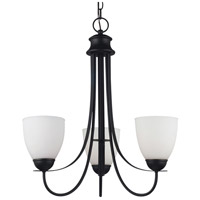 Sea Gull 31270BLE-839 Uptown 3 Light 21 inch Blacksmith Chandelier Ceiling Light in Fluorescent photo thumbnail
