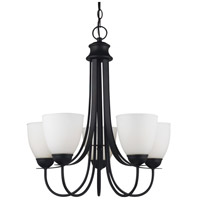 Sea Gull Lighting Uptown Fluorescent 5 Light Chandelier in Blacksmith 31271BLE-839 photo thumbnail