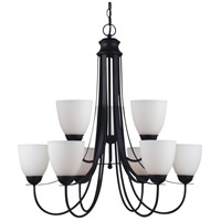 Sea Gull 31272BLE-839 Uptown 9 Light 30 inch Blacksmith Chandelier Ceiling Light in Fluorescent photo thumbnail