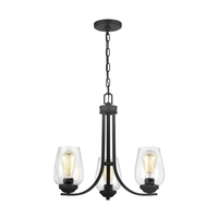 Sea Gull 3127803EN7-839 Morill 3 Light 20 inch Blacksmith Chandelier Ceiling Light