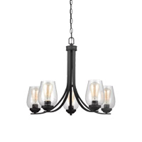 Morill 5 Light 26 inch Blacksmith Chandelier Ceiling Light