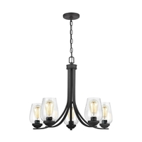 Sea Gull 3127805EN7-839 Morill 5 Light 26 inch Blacksmith Chandelier Ceiling Light