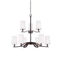 Sea Gull 3128009-782 Nance 9 Light 32 inch Heirloom Bronze Chandelier Ceiling Light
