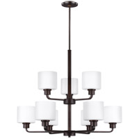 Sea Gull 3128809-710 Canfield 9 Light 31 inch Burnt Sienna Chandelier Ceiling Light