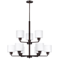 Sea Gull 3128809EN3-710 Canfield 9 Light 31 inch Burnt Sienna Chandelier Ceiling Light