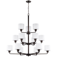 Canfield 15 Light 40 inch Burnt Sienna Chandelier Ceiling Light