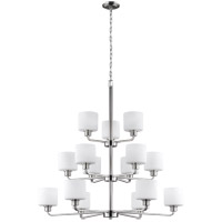 Sea Gull 3128815-962 Canfield 15 Light 40 inch Brushed Nickel Chandelier Ceiling Light