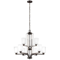 Sea Gull 3128909EN3-710 Franport 9 Light 30 inch Burnt Sienna Chandelier Ceiling Light