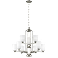 Franport 9 Light 30 inch Brushed Nickel Chandelier Ceiling Light