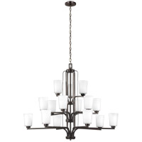 Sea Gull 3128915EN3-710 Franport 15 Light 43 inch Burnt Sienna Chandelier Ceiling Light