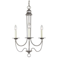 Sea Gull Lighting Plymouth 3 Light Chandelier in Weathered Pewter 31290-57