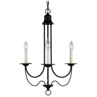 Sea Gull Lighting Plymouth 3 Light Chandelier in Blacksmith 31290-839