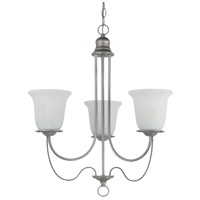 Sea Gull Lighting Plymouth Fluorescent 3 Light Chandelier in Weathered Pewter 31291BLE-57