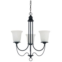 Sea Gull Lighting Plymouth Fluorescent 3 Light Chandelier in Blacksmith 31291BLE-839
