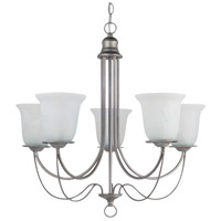 Plymouth 5 Light 26 inch Weathered Pewter Chandelier Ceiling Light in Fluorescent
