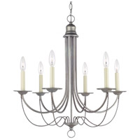 Sea Gull Lighting Plymouth 6 Light Chandelier in Weathered Pewter 31294-57
