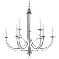 Sea Gull 31295-57 Plymouth 9 Light 34 inch Weathered Pewter Chandelier Ceiling Light photo thumbnail
