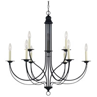 Sea Gull 31295-839 Plymouth 9 Light 34 inch Blacksmith Chandelier Ceiling Light photo thumbnail