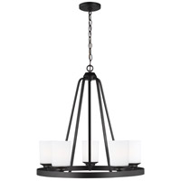 Sea Gull 3130705-112 Kemal 5 Light 24 inch Midnight Black Chandelier Ceiling Light