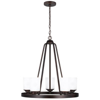 Sea Gull 3130705-710 Kemal 5 Light 24 inch Burnt Sienna Chandelier Ceiling Light