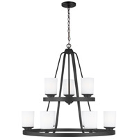 Sea Gull 3130709-112 Kemal 9 Light 30 inch Midnight Black Chandelier Ceiling Light