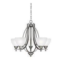 Sea Gull Vitelli 5 Light Chandelier Single-Tier in Weathered Pewter 3131405-57