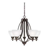 Sea Gull Vitelli 5 Light Chandelier Single-Tier in Autumn Bronze 3131405-715 photo thumbnail