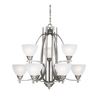 Sea Gull Vitelli 9 Light Chandelier Multi-Tier in Weathered Pewter 3131409-57