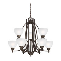 Vitelli 9 Light 33 inch Autumn Bronze Chandelier Multi-Tier Ceiling Light in Standard