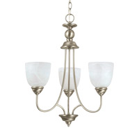 Lemont 3 Light 20 inch Antique Brushed Nickel Chandelier Ceiling Light