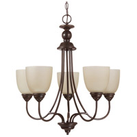 Lemont 5 Light 23 inch Burnt Sienna Chandelier Ceiling Light in Fluorescent