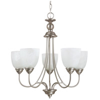 Lemont 5 Light 23 inch Antique Brushed Nickel Chandelier Ceiling Light in Fluorescent