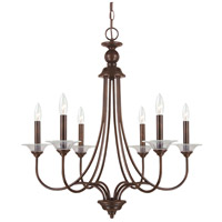 Sea Gull 31318-710 Lemont 6 Light 27 inch Burnt Sienna Chandelier Ceiling Light photo thumbnail