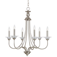 Sea Gull 31318-965 Lemont 6 Light 27 inch Antique Brushed Nickel Chandelier Ceiling Light photo thumbnail