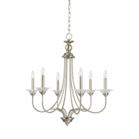 Lemont 6 Light 27 inch Antique Brushed Nickel Chandelier Ceiling Light